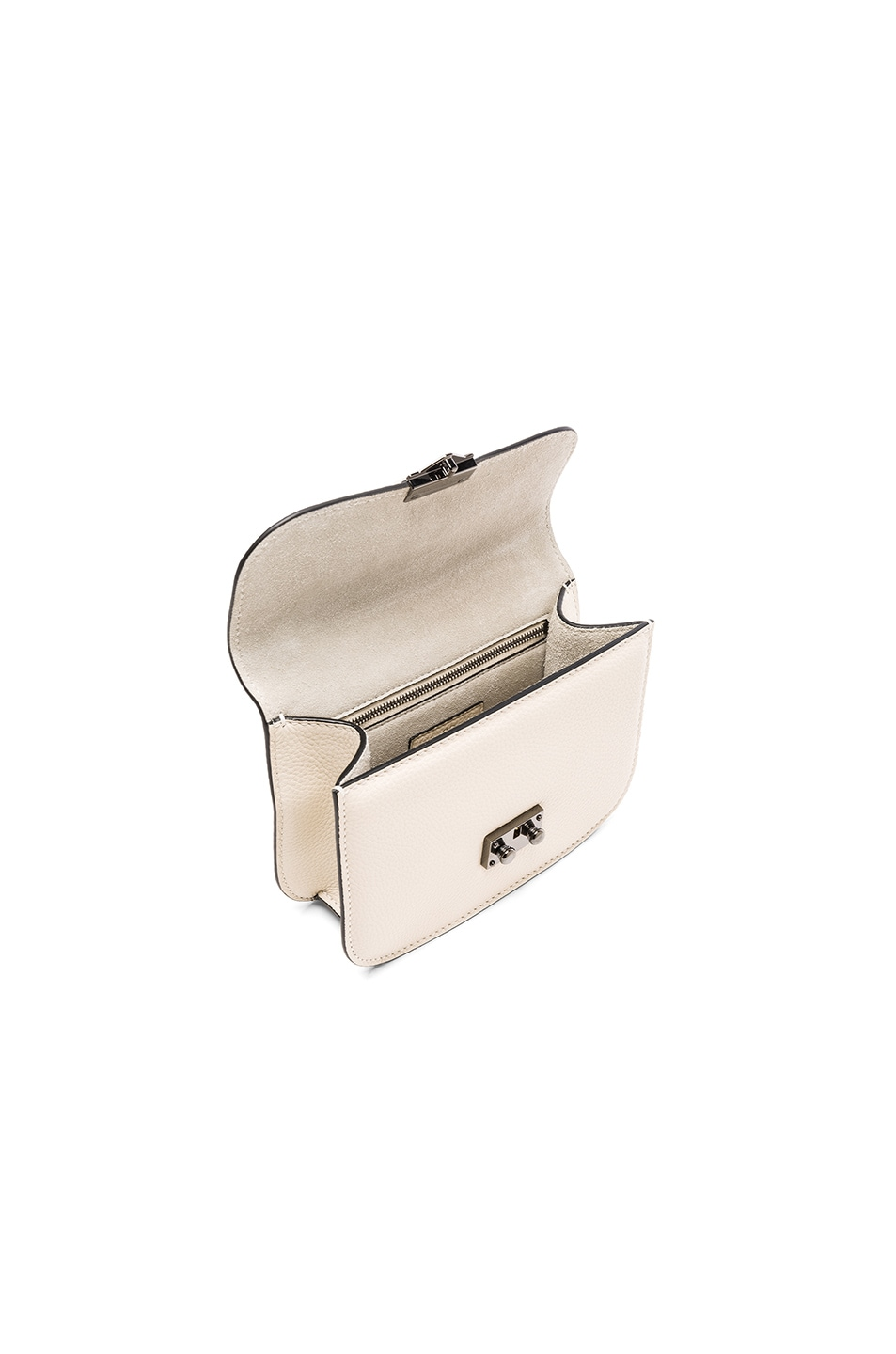 Image 4 of Valentino Small Lock Shoulder Bag in Light Ivory