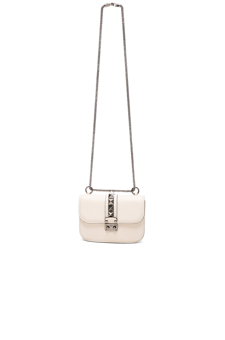 Image 5 of Valentino Small Lock Shoulder Bag in Light Ivory