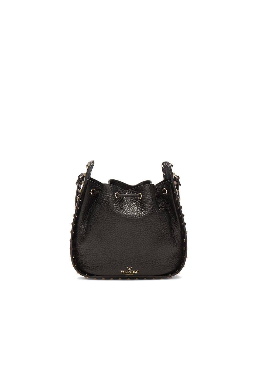 Image 2 of Valentino Rockstud Bucket Bag in Black