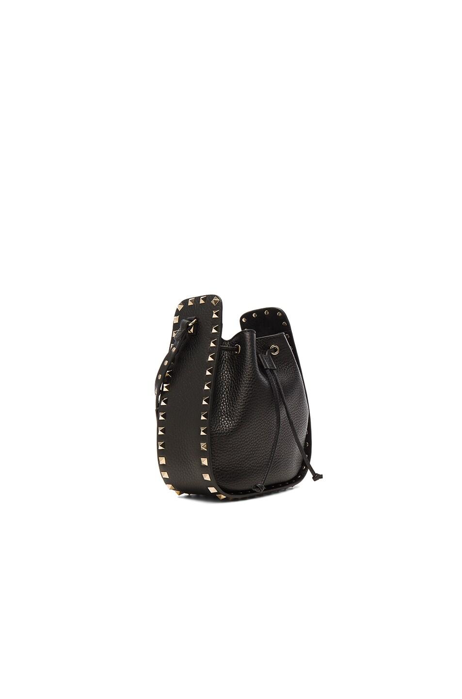 Image 3 of Valentino Rockstud Bucket Bag in Black