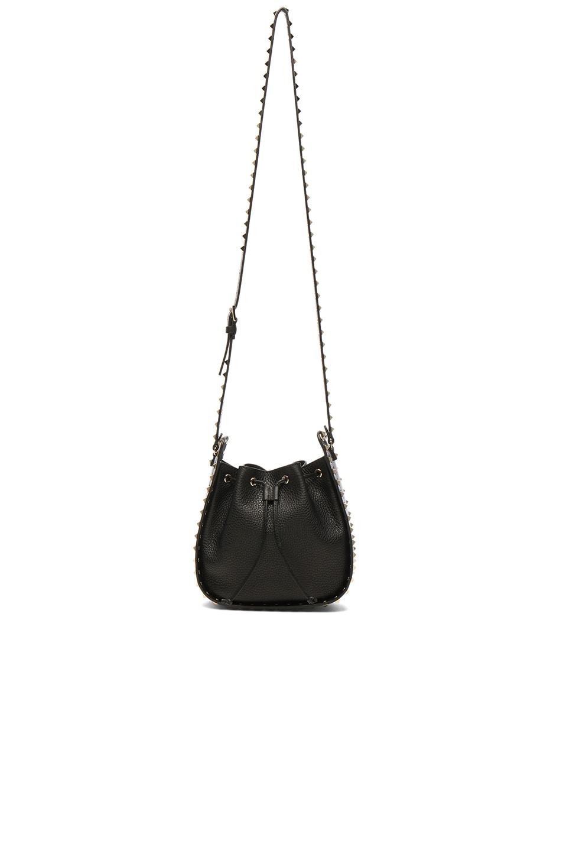 Image 5 of Valentino Rockstud Bucket Bag in Black