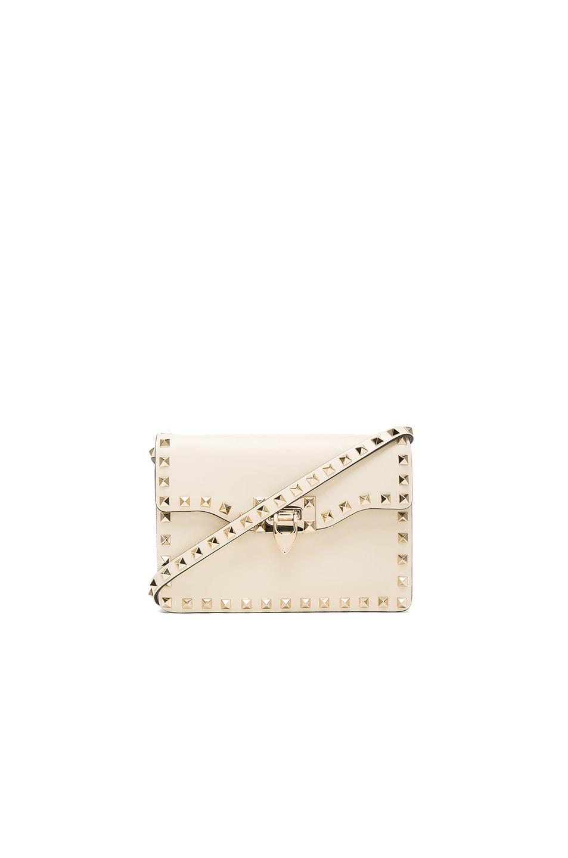 Image 1 of Valentino Small Rockstud Shoulder Bag in Light Ivory