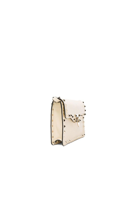Image 3 of Valentino Small Rockstud Shoulder Bag in Light Ivory