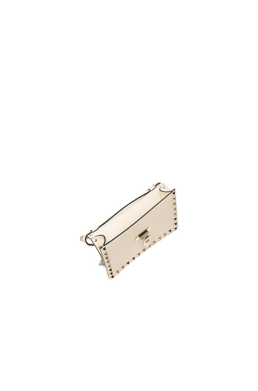 Image 4 of Valentino Small Rockstud Shoulder Bag in Light Ivory