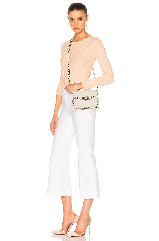 Image 6 of Valentino Small Rockstud Shoulder Bag in Light Ivory