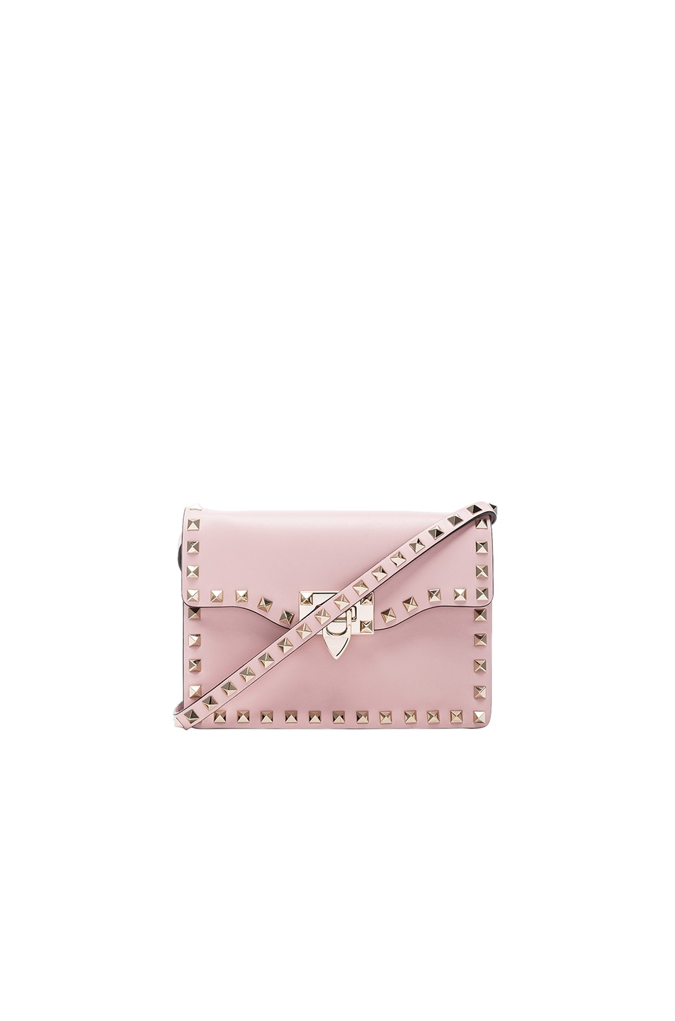Image 1 of Valentino Small Rockstud Shoulder Bag in Water Rose