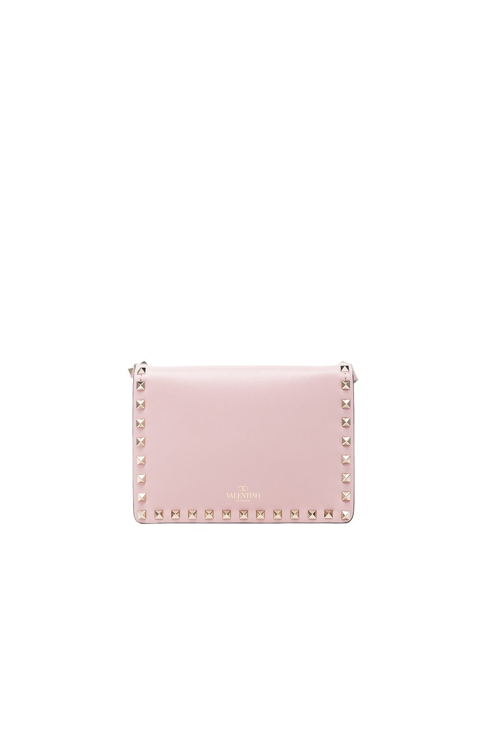 Image 2 of Valentino Small Rockstud Shoulder Bag in Water Rose