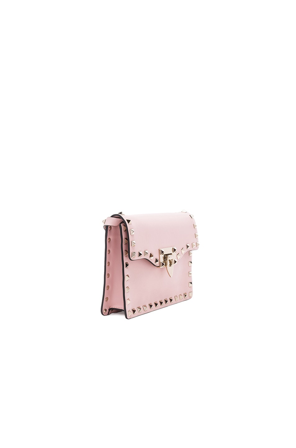 Image 3 of Valentino Small Rockstud Shoulder Bag in Water Rose