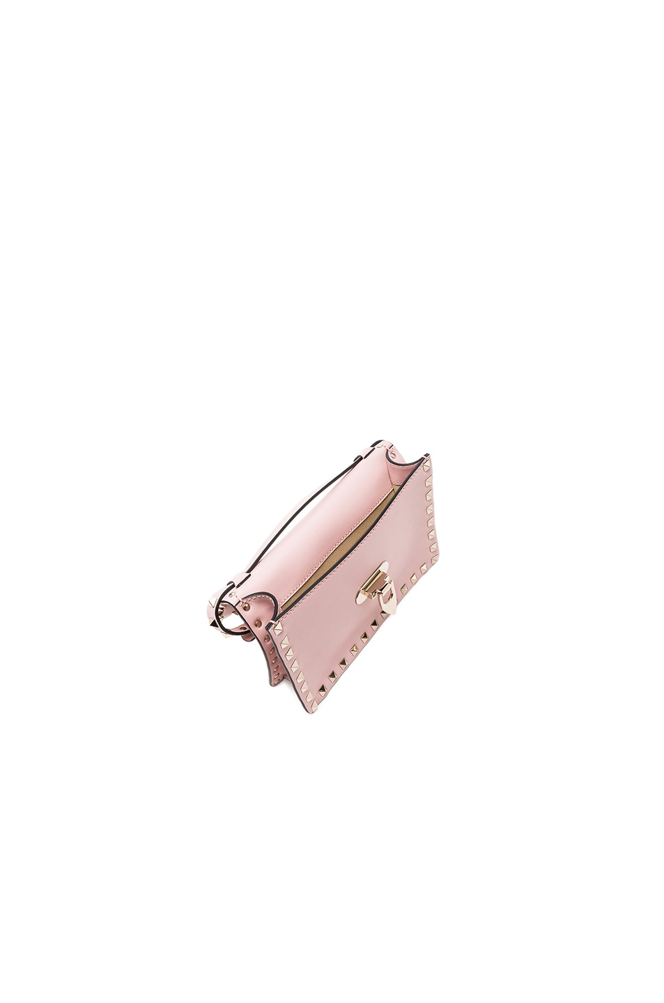 Image 4 of Valentino Small Rockstud Shoulder Bag in Water Rose
