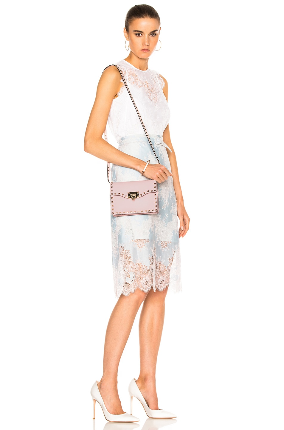 Image 6 of Valentino Small Rockstud Shoulder Bag in Water Rose