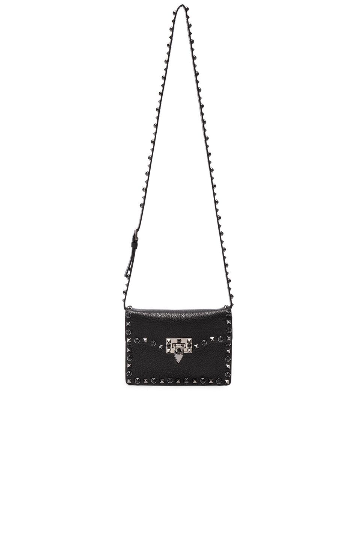 Image 5 of Valentino Small Rockstud Shoulder Bag in Black