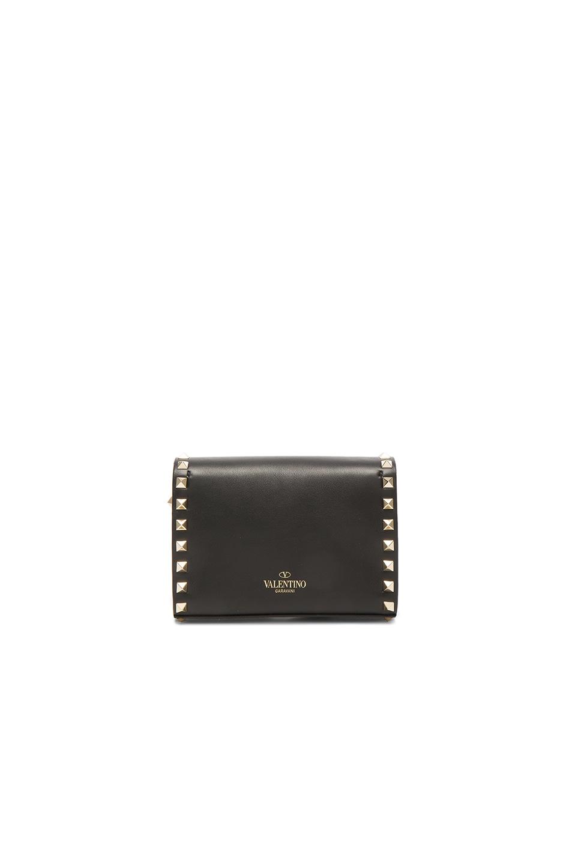 Image 2 of Valentino Small Rockstud Shoulder Bag in Black