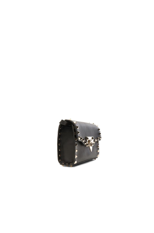 Image 3 of Valentino Small Rockstud Shoulder Bag in Black