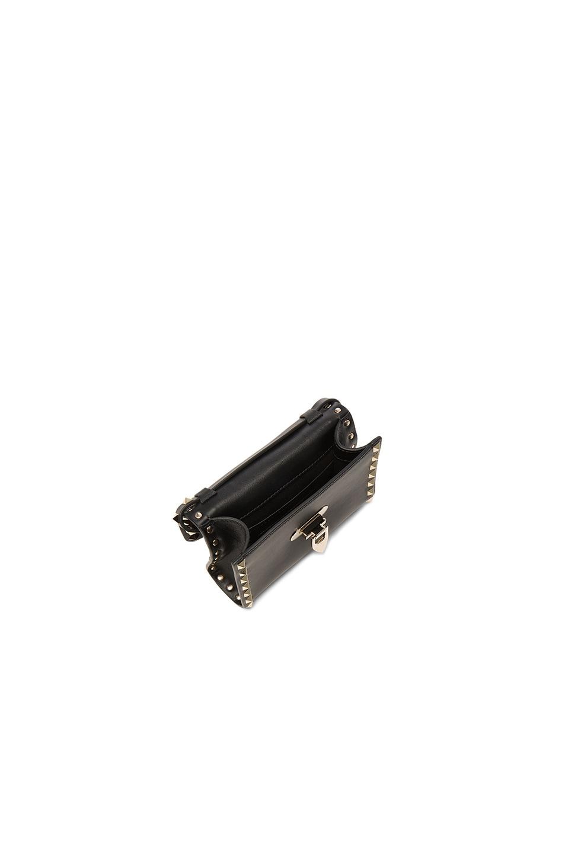 Image 4 of Valentino Small Rockstud Shoulder Bag in Black