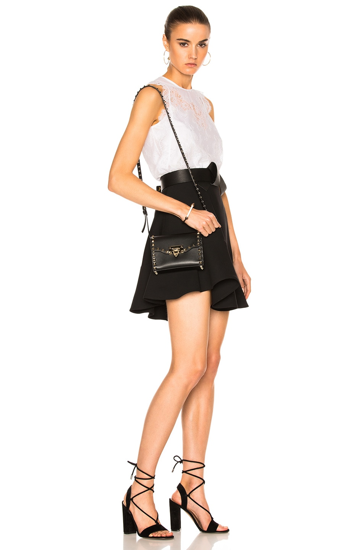 Image 6 of Valentino Small Rockstud Shoulder Bag in Black
