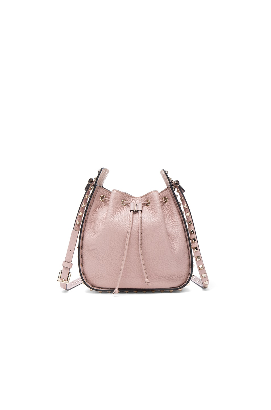 Image 1 of Valentino Rockstud Bucket Bag in Poudre