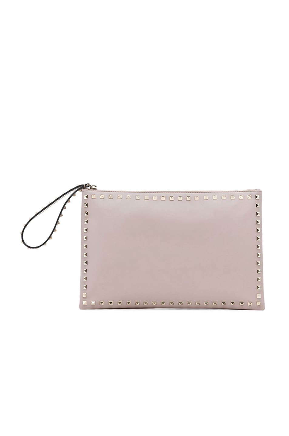 Image 1 of Valentino Small Rockstud Clutch in Powder