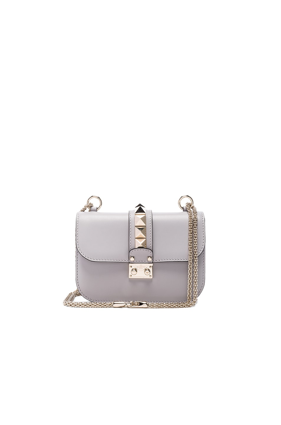 Image 1 of Valentino Small Lock Shoulder Bag in Pastel Grey