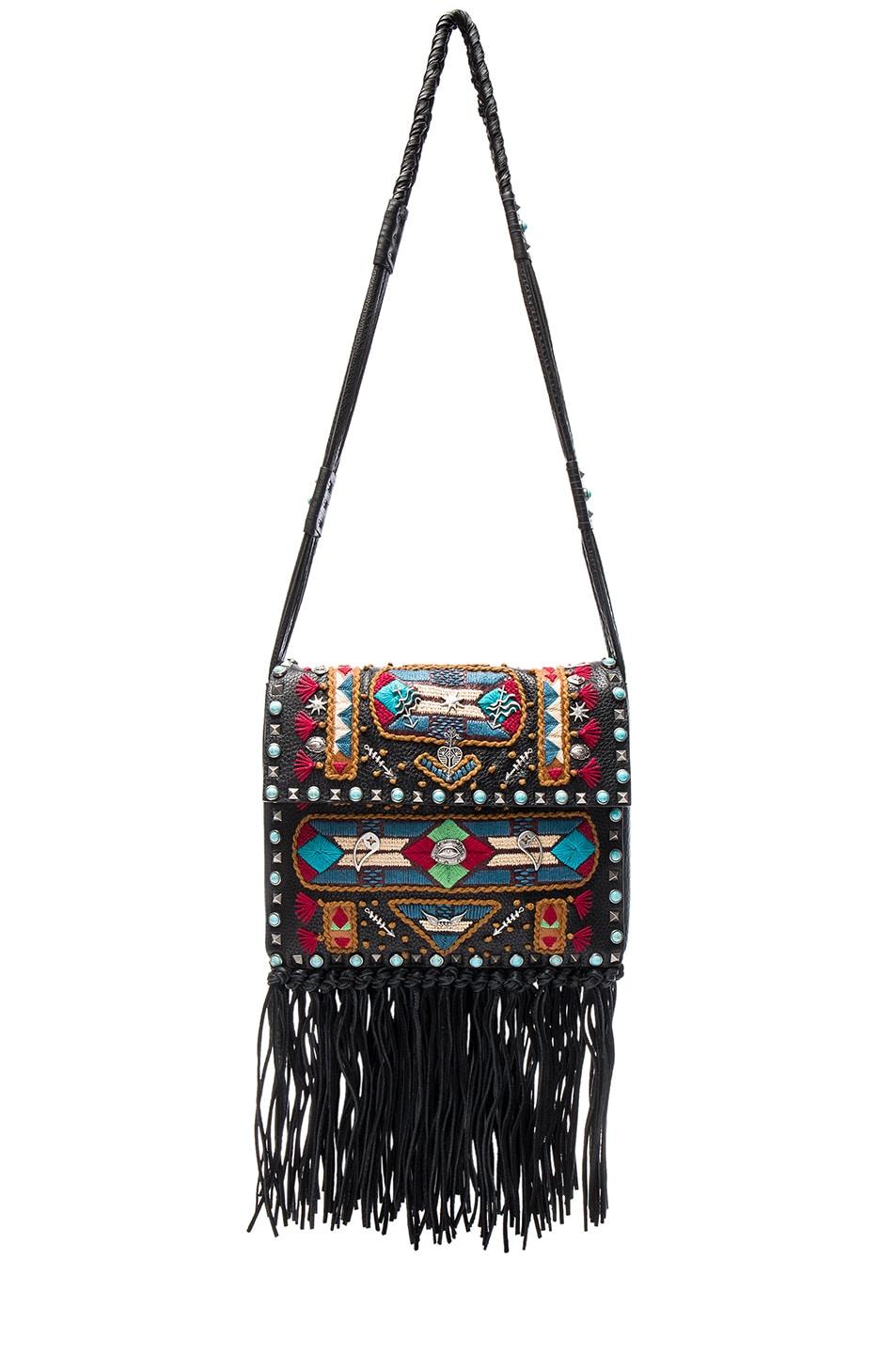 Image 1 of Valentino Santeria Fringe Shoulder Bag in Multi