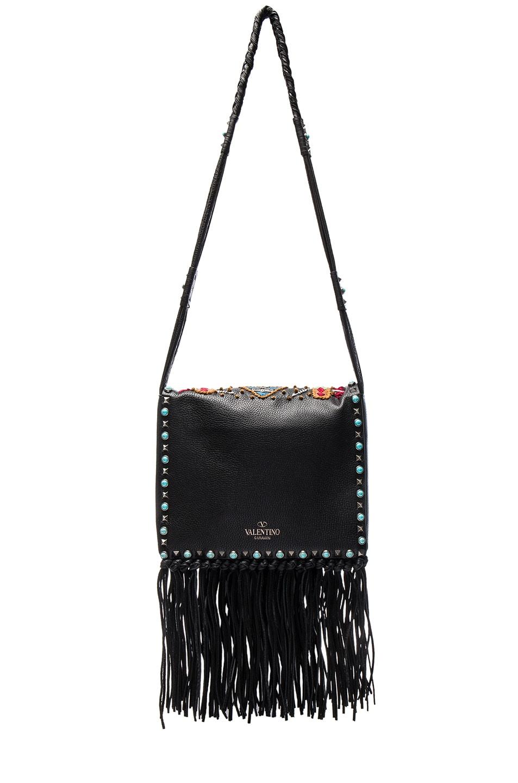 Image 2 of Valentino Santeria Fringe Shoulder Bag in Multi