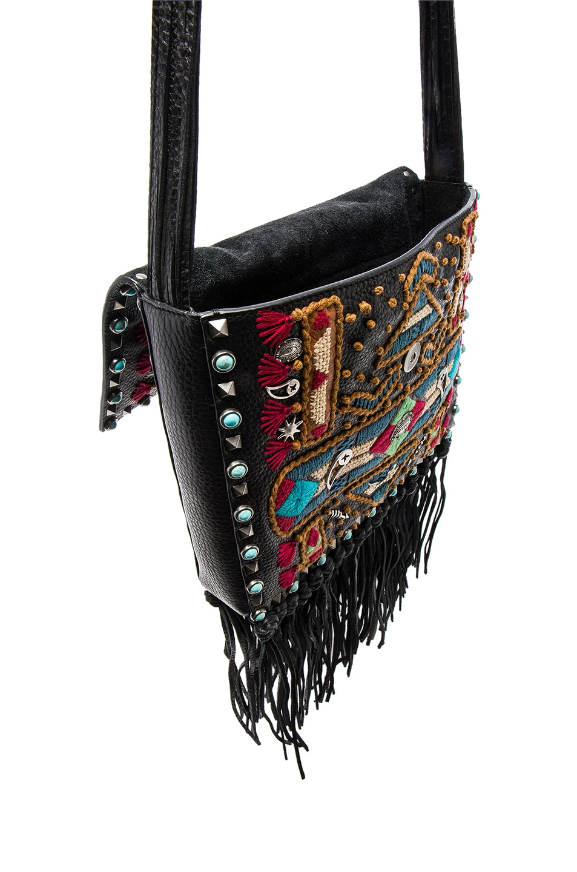Image 4 of Valentino Santeria Fringe Shoulder Bag in Multi