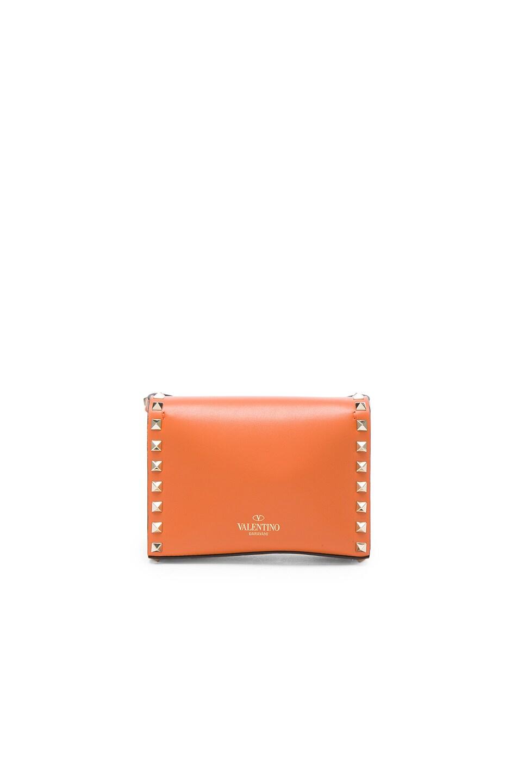 Image 2 of Valentino Small Rockstud Shoulder Bag in Orange