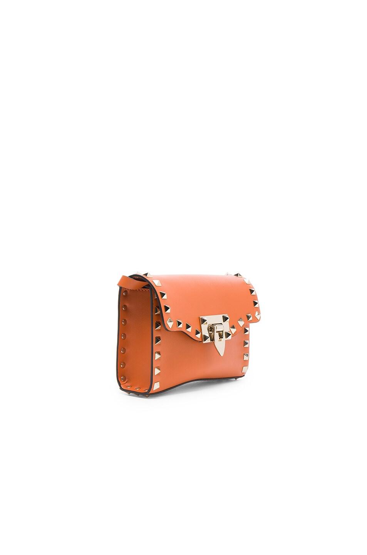 Image 3 of Valentino Small Rockstud Shoulder Bag in Orange
