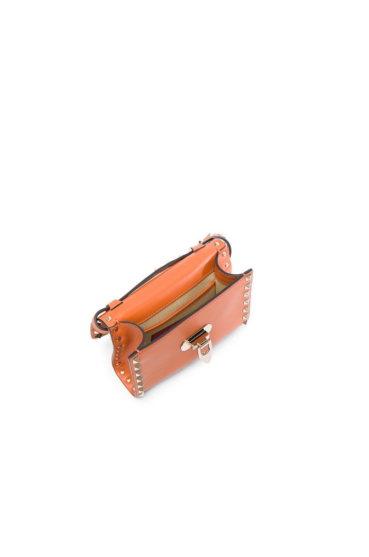 Image 4 of Valentino Small Rockstud Shoulder Bag in Orange