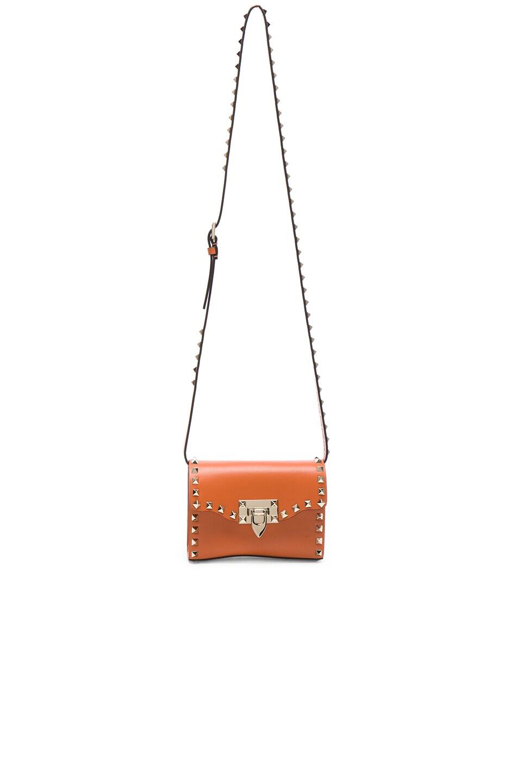 Image 5 of Valentino Small Rockstud Shoulder Bag in Orange