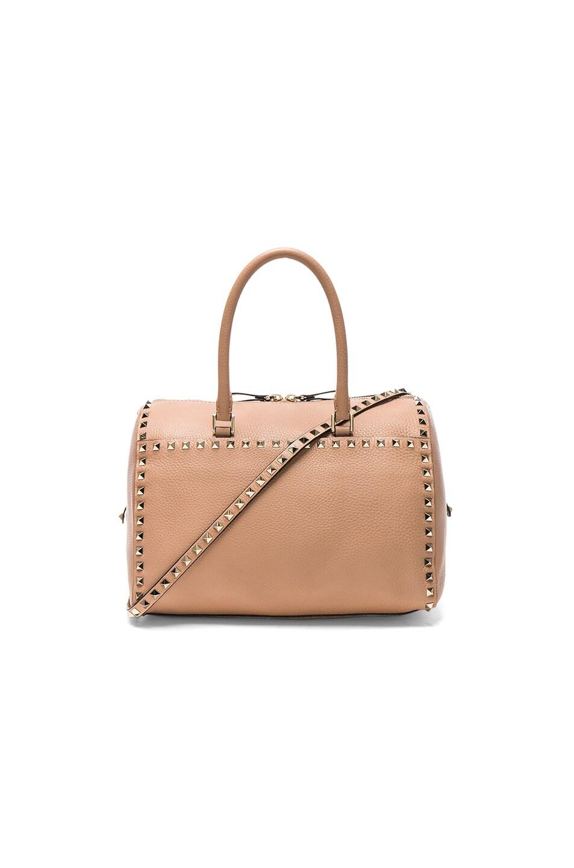 Image 1 of Valentino Rockstud Duffle Bag in Skin Sorbet