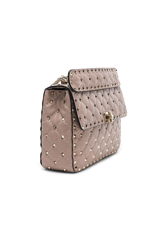 Image 4 of Valentino Medium Rockstud Spike Shoulder Bag in Poudre