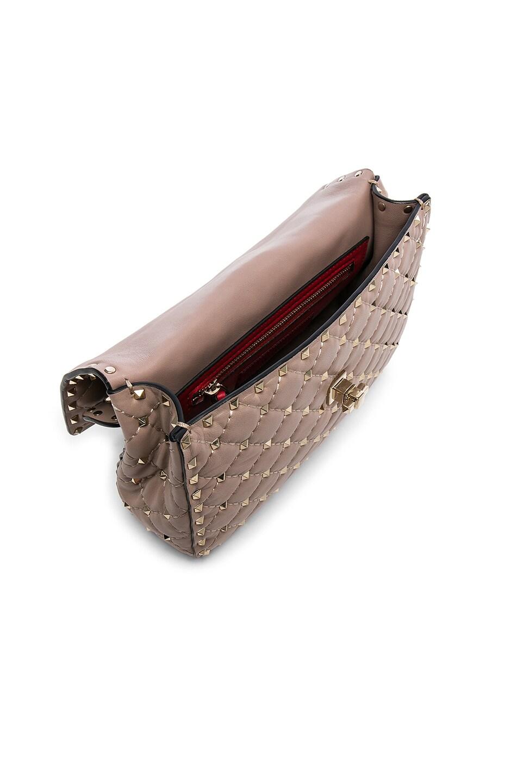 Image 5 of Valentino Medium Rockstud Spike Shoulder Bag in Poudre