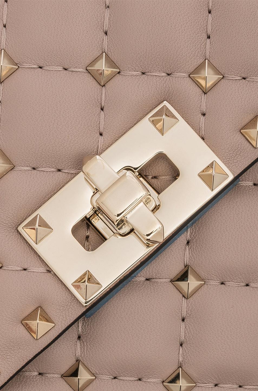 Image 8 of Valentino Medium Rockstud Spike Shoulder Bag in Poudre