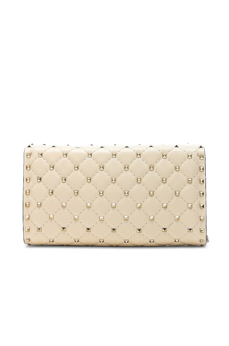 Image 3 of Valentino Rockstud Spike Clutch in Light Ivory