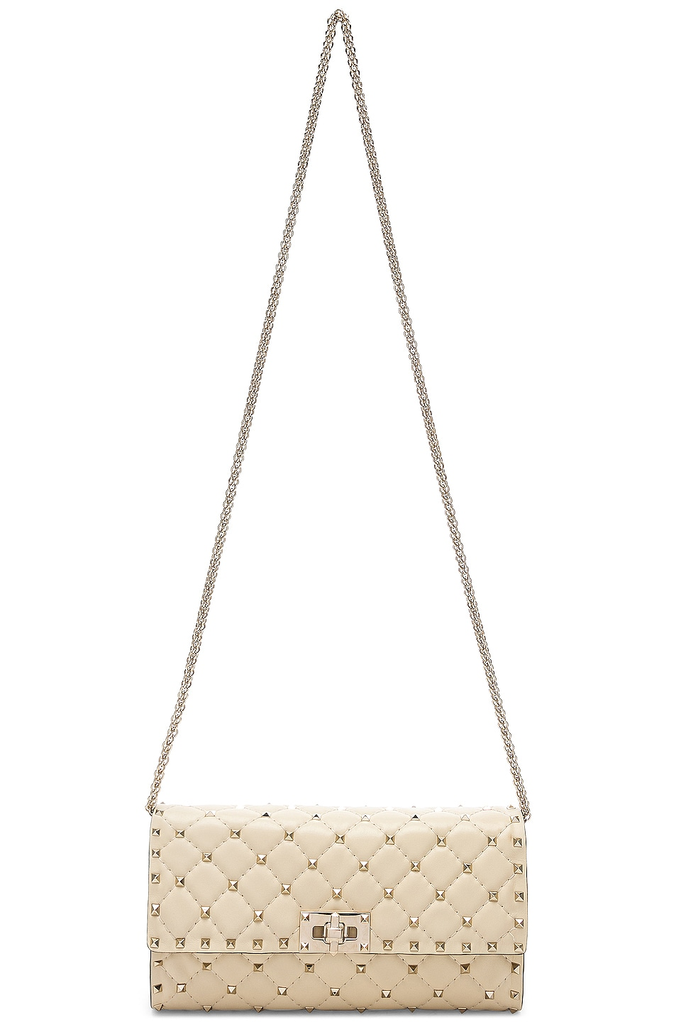 Image 6 of Valentino Rockstud Spike Clutch in Light Ivory