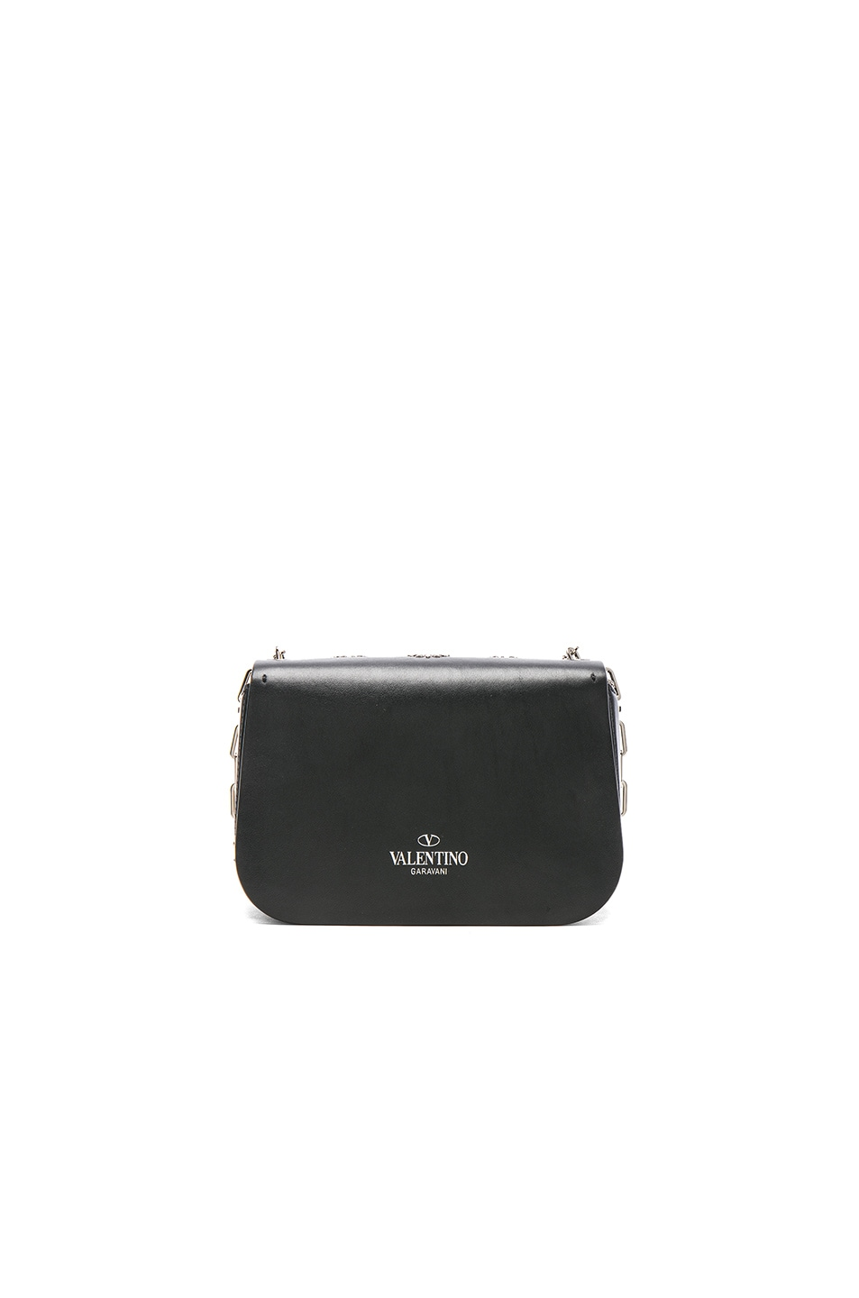 Image 2 of Valentino Metal Loveblade Crossbody Bag in Black