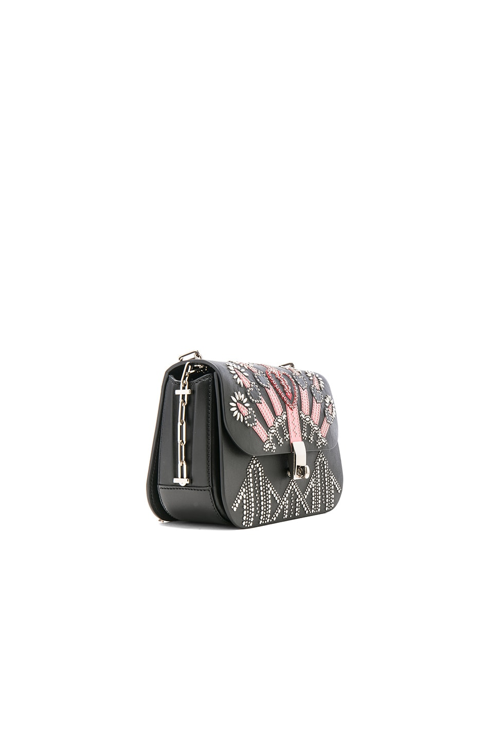 Image 3 of Valentino Metal Loveblade Crossbody Bag in Black