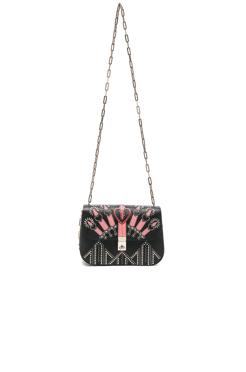Image 5 of Valentino Metal Loveblade Crossbody Bag in Black