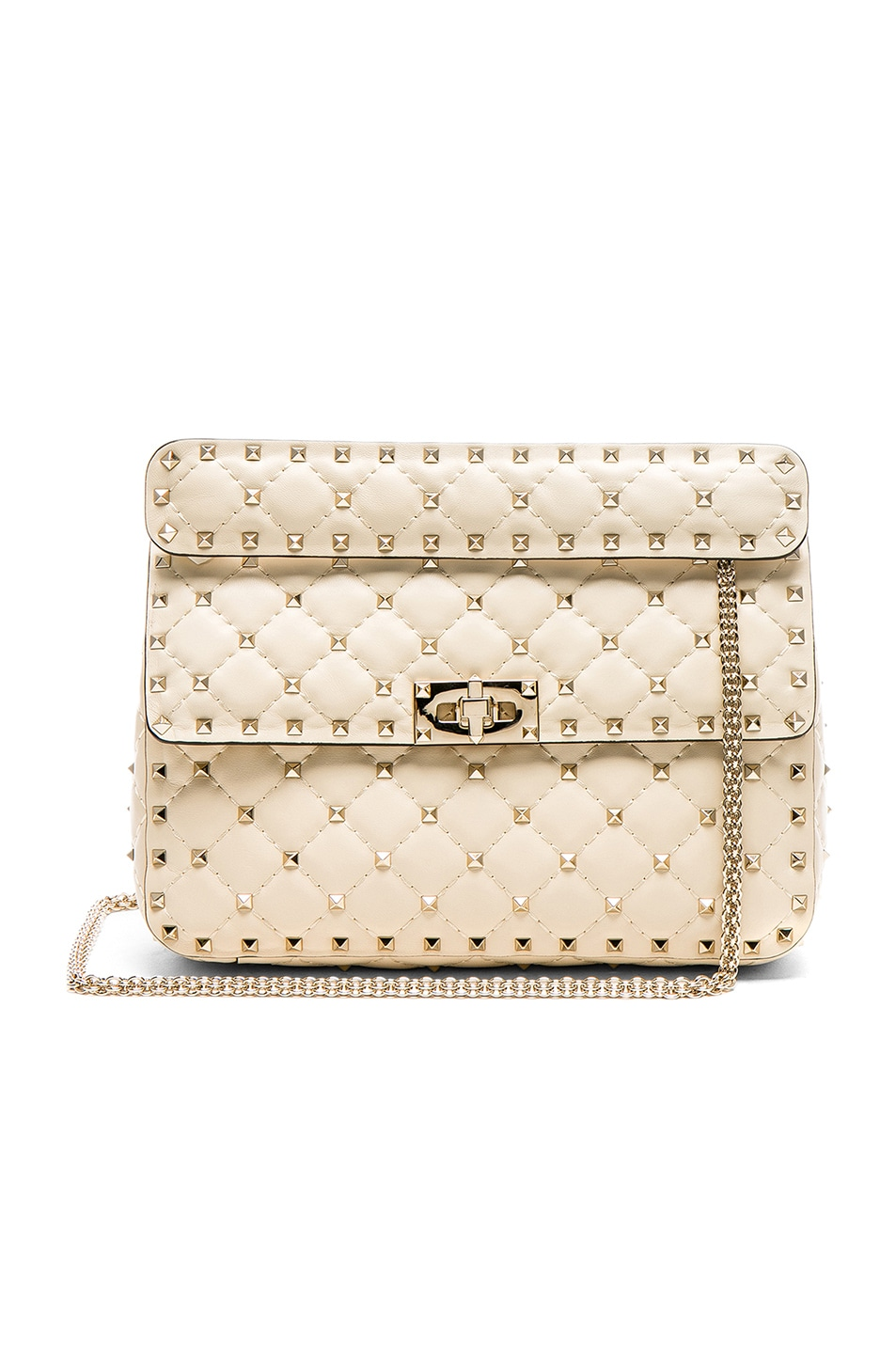 Image 1 of Valentino Quilted Rockstud Spike Medium Shoulder Bag in Ivory