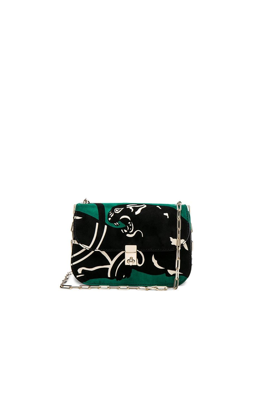 Image 1 of Valentino Suede Shoulder Bag in Emerald
