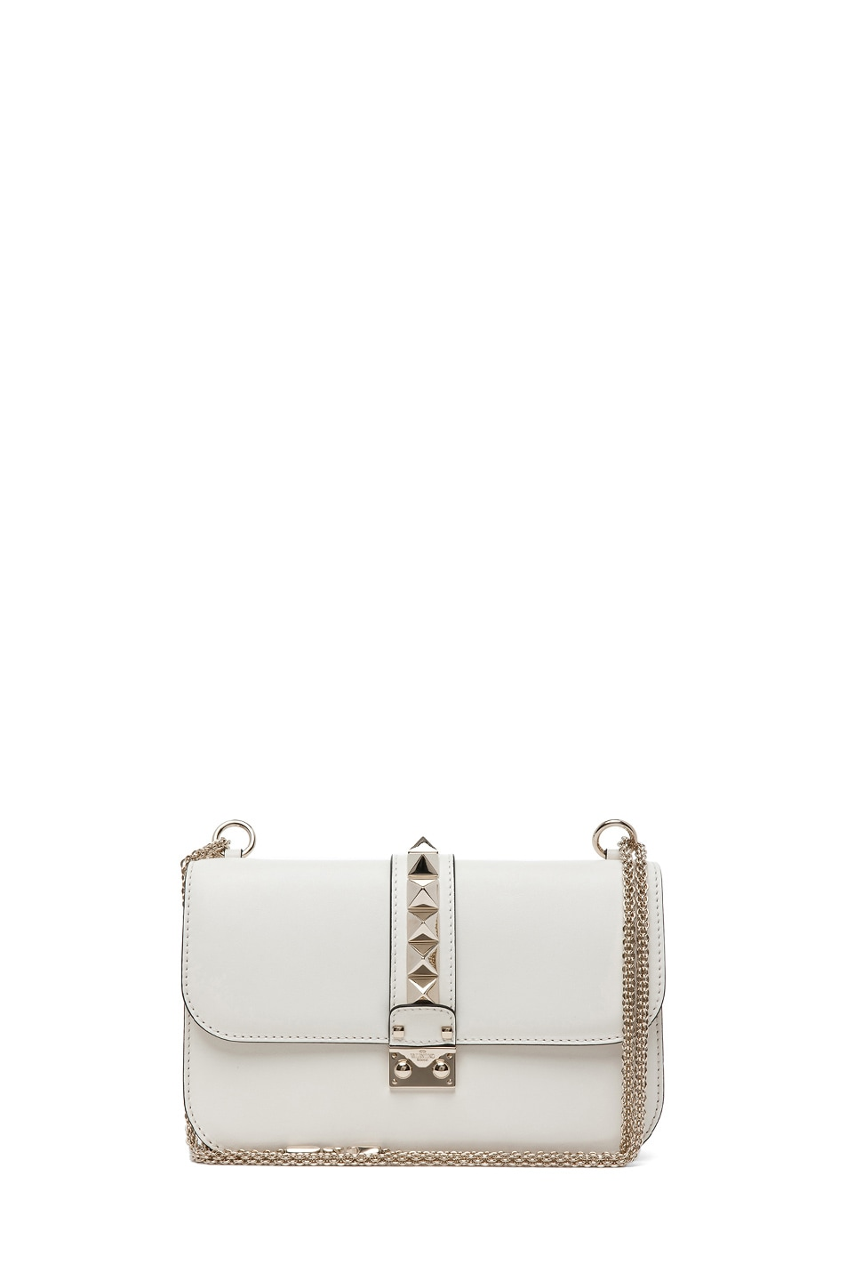 Image 1 of Valentino Medium Lock Flap Bag in Light Ivory