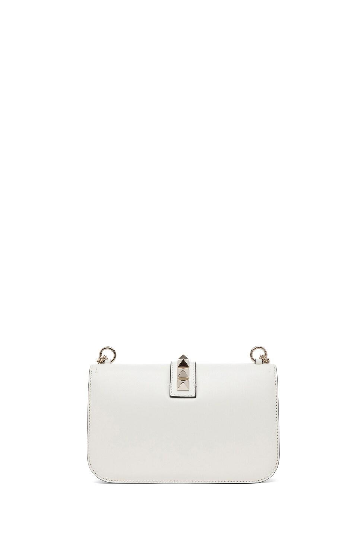 Image 2 of Valentino Medium Lock Flap Bag in Light Ivory