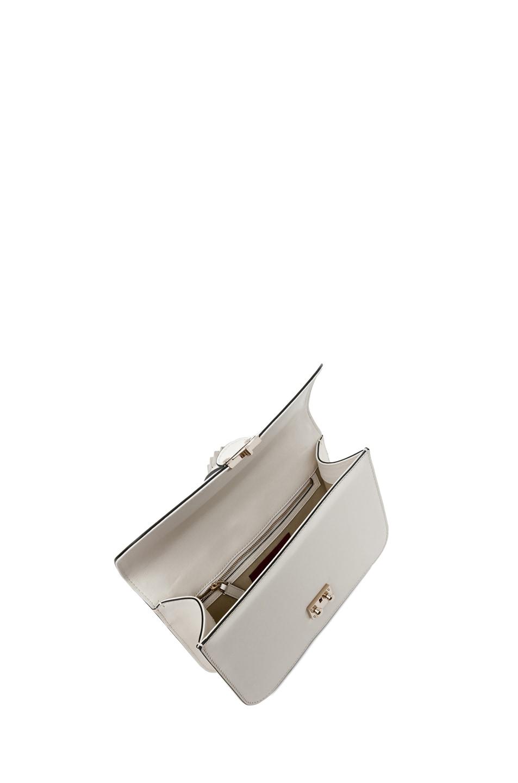 Image 4 of Valentino Medium Lock Flap Bag in Light Ivory