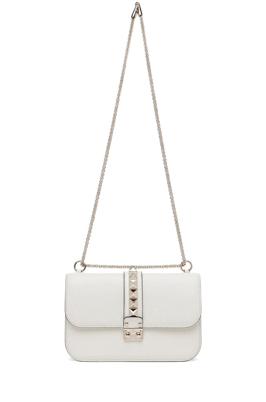 Image 6 of Valentino Medium Lock Flap Bag in Light Ivory