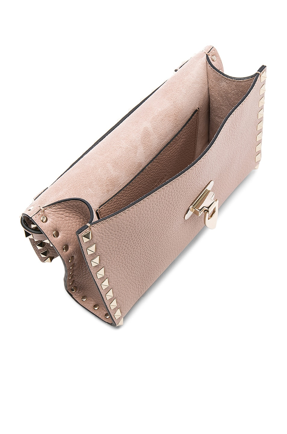 Image 5 of Valentino Medium Rockstud Shoulder Bag in Poudre