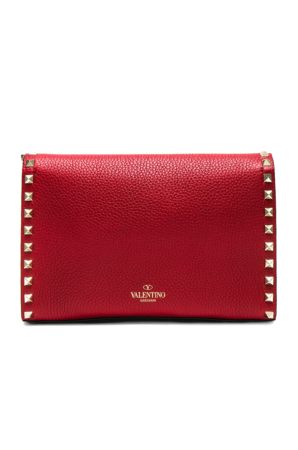 Image 2 of Valentino Medium Rockstud Shoulder Bag in Red