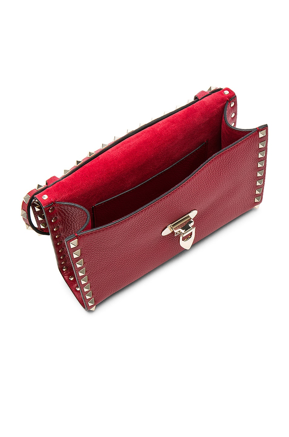 Image 4 of Valentino Medium Rockstud Shoulder Bag in Red