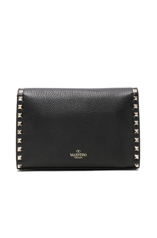 Image 3 of Valentino Medium Rockstud Shoulder Bag in Black