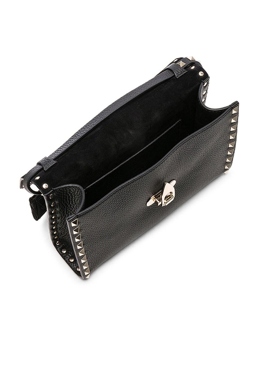 Image 5 of Valentino Medium Rockstud Shoulder Bag in Black