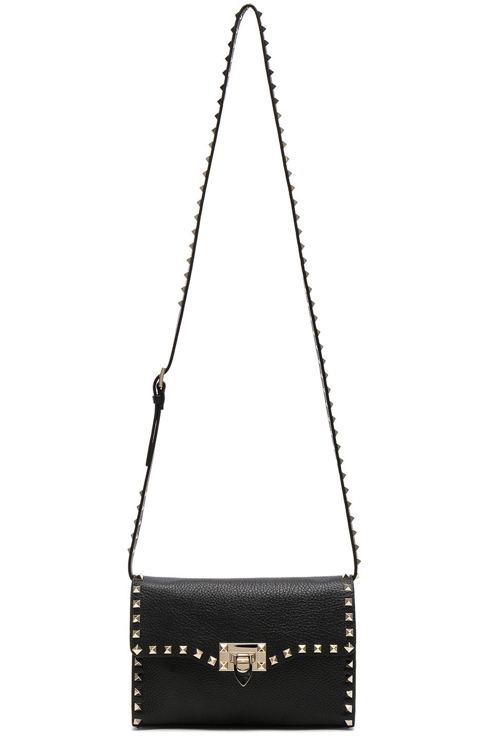 Image 6 of Valentino Medium Rockstud Shoulder Bag in Black